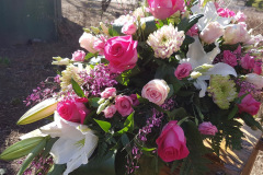 Begräbnis Sarggesteck/Bukett - Funeral coffin/bouquet dekoration #5-1
